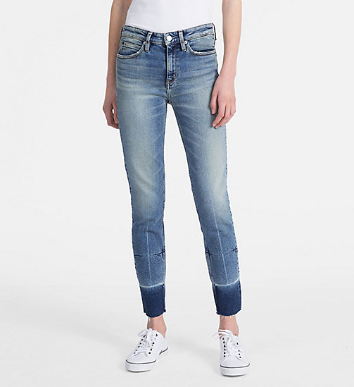 CALVIN KLEIN JEANS CKJ 011 Mid Rise Skinny Ankle Jeans - COCO BLUE - CALVIN KLEIN JEANS SKINNY JEANS - main image