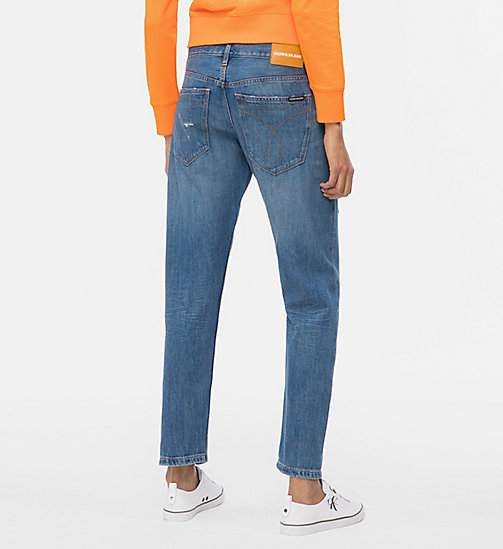 CALVIN KLEIN JEANS CKJ 061 Mid Rise Boy Jeans - DOG PATCH BLUE DSTR - CALVIN KLEIN JEANS NEW DENIM - detail image 1