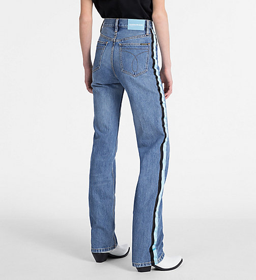 CALVIN KLEIN JEANS CKJ 030 High Rise Straight Taped Jeans - LYON BLUE - CALVIN KLEIN JEANS NEW DENIM - detail image 1