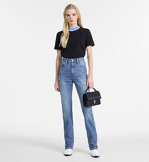 CALVIN KLEIN JEANS CKJ 030 High Rise Straight Taped Jeans - LYON BLUE - CALVIN KLEIN JEANS CLOTHES - detail image 1
