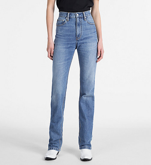 CALVIN KLEIN JEANS CKJ 030 High Rise Straight Taped Jeans - LYON BLUE - CALVIN KLEIN JEANS CLOTHES - main image