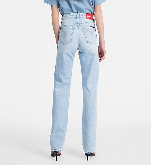 CALVIN KLEIN JEANS CKJ 030 High Rise Straight Jeans - PESCADERO BLUE - CALVIN KLEIN JEANS NEW IN - main image 1