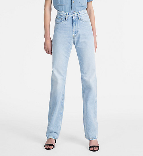 CALVIN KLEIN JEANS CKJ 030 High Rise Straight Jeans - PESCADERO BLUE - CALVIN KLEIN JEANS NEW IN - main image