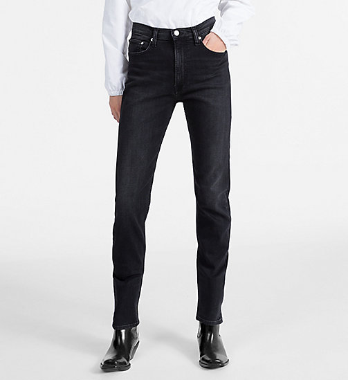 CALVIN KLEIN JEANS CKJ 020 High Rise Slim Jeans - STOCKHOLM BLACK - CALVIN KLEIN JEANS NEW DENIM - main image