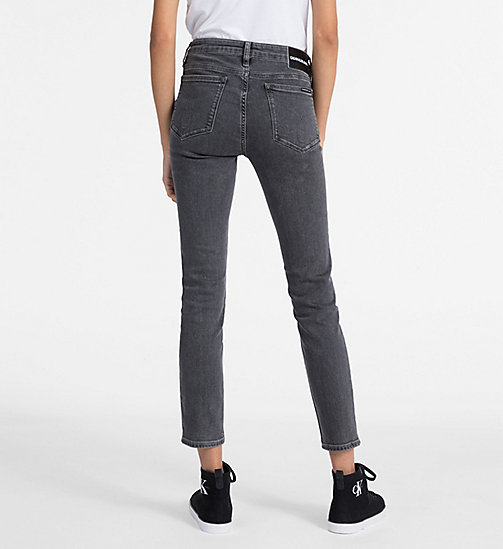 CALVIN KLEIN JEANS CKJ 001 Super Skinny Ankle Jeans - STOCKHOLM GREY - CALVIN KLEIN JEANS THE DENIM INDEX - detail image 1