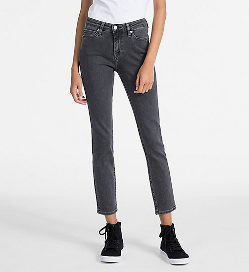 CALVIN KLEIN JEANS CKJ 001 Super Skinny Ankle Jeans - STOCKHOLM GREY - CALVIN KLEIN JEANS THE DENIM INDEX - main image