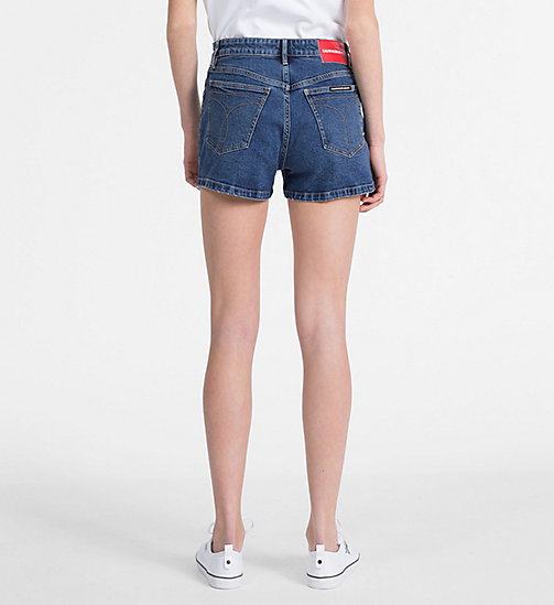 CALVIN KLEIN JEANS High Rise Denim Shorts - CHRISTIANE BLUE - CALVIN KLEIN JEANS SHORTS - detail image 1