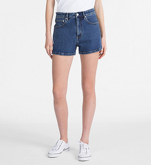 CALVIN KLEIN JEANS High Rise Denim Shorts - CHRISTIANE BLUE - CALVIN KLEIN JEANS SHORTS - main image