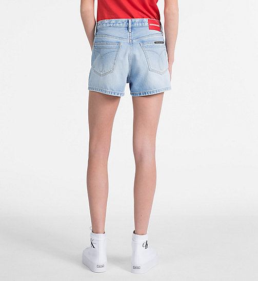 CALVIN KLEIN JEANS High Rise Denim Shorts - BUTANO BLUE - CALVIN KLEIN JEANS DENIM SHOP - detail image 1