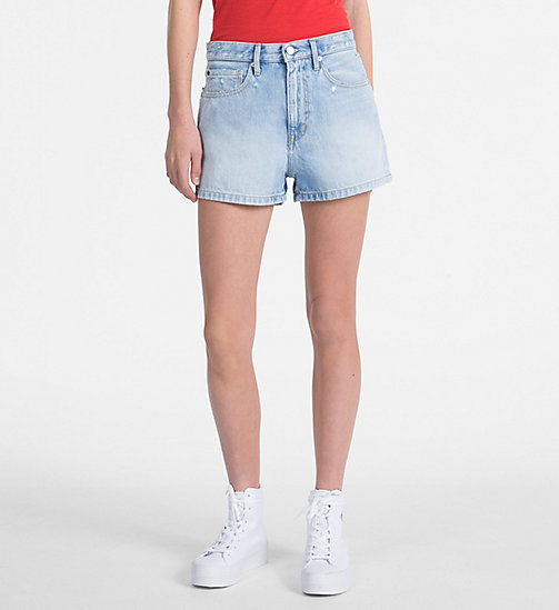 CALVIN KLEIN JEANS High Rise Denim Shorts - BUTANO BLUE - CALVIN KLEIN JEANS NEW IN - main image