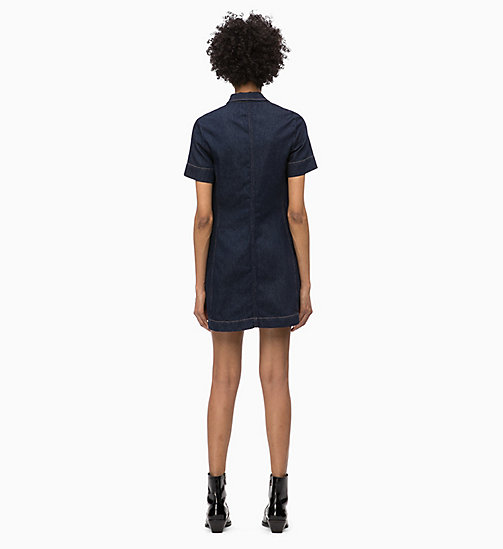 CALVIN KLEIN JEANS Denim Logo Dress - RINSE - CALVIN KLEIN JEANS NEW ICONS - detail image 1