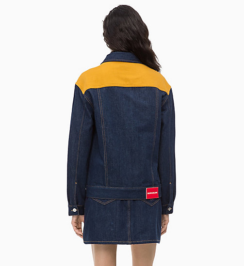 CALVIN KLEIN JEANS Colour Block Denim Trucker Jacket - UKELELY PATCH -  FALL DREAMS - detail image 1