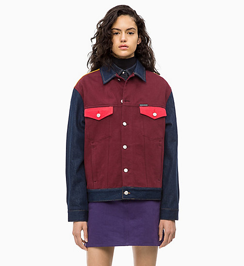 CALVIN KLEIN JEANS Colour Block Denim Trucker Jacket - UKELELY PATCH - CALVIN KLEIN JEANS FALL DREAMS - main image