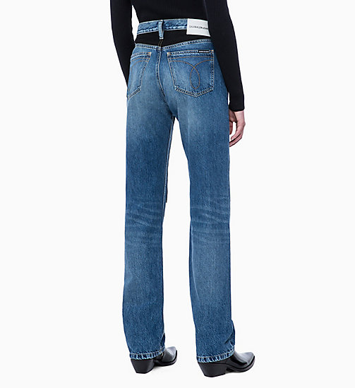 CALVIN KLEIN JEANS CKJ 030 High Rise Straight Jeans - KEELING PATCH - CALVIN KLEIN JEANS NEW ICONS - detail image 1