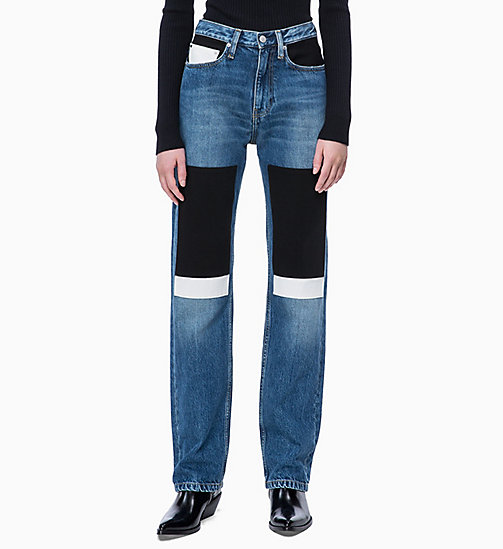 CALVIN KLEIN JEANS CKJ 030 High Rise Straight Jeans - KEELING PATCH - CALVIN KLEIN JEANS NEW ICONS - main image