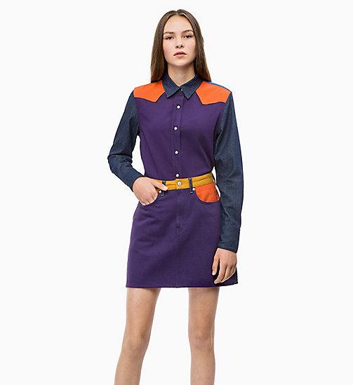 -50% CALVIN KLEIN JEANS Colour Block Western Shirt - OLIVIA RINSE - CALVIN  KLEIN JEANS CLOTHES ... 1f9e074e2eaf