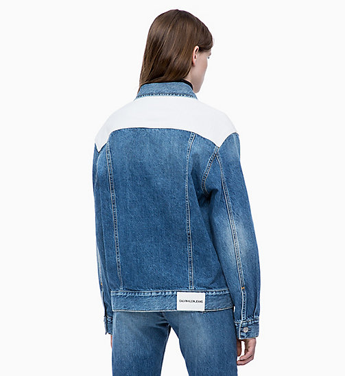 CALVIN KLEIN JEANS Colour Block Denim Trucker Jacket - KEELING PATCH - CALVIN KLEIN JEANS NEW ICONS - detail image 1