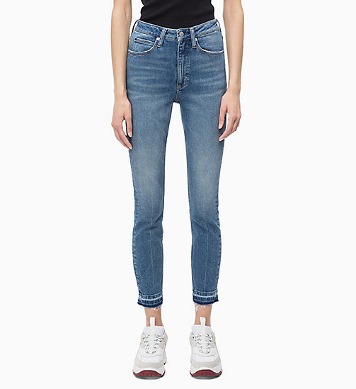 CALVIN KLEIN JEANS CKJ 010 High Rise Skinny Ankle Jeans - ALBURY BLUE - CALVIN KLEIN JEANS The New Off-Duty - image principale