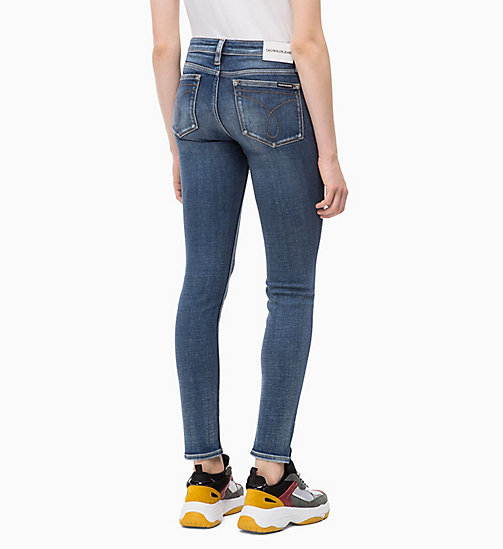 CALVIN KLEIN JEANS CKJ 011 Mid Rise Skinny Jeans - CAIRNS BLUE (BRUSHED) - CALVIN KLEIN JEANS SKINNY JEANS - detail image 1