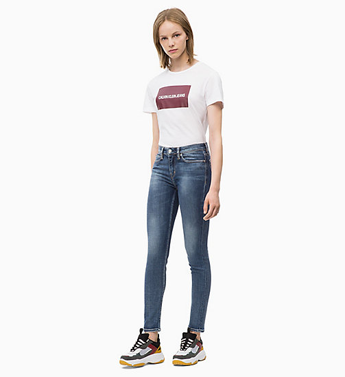 CALVIN KLEIN JEANS CKJ 011 Mid Rise Skinny Jeans - CAIRNS BLUE (BRUSHED) - CALVIN KLEIN JEANS HERBST-TRAUM - main image 1
