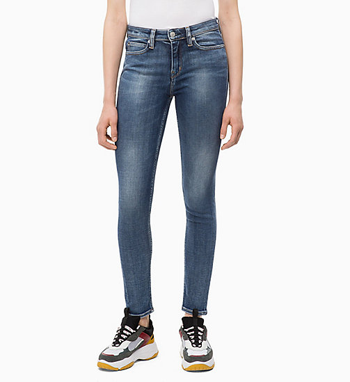 CALVIN KLEIN JEANS CKJ 011 Mid Rise Skinny Jeans - CAIRNS BLUE (BRUSHED) - CALVIN KLEIN JEANS SKINNY JEANS - main image