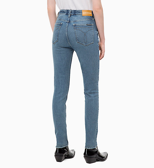 CALVIN KLEIN JEANS CKJ 010 High Rise Skinny Jeans - COBAR BLUE - CALVIN KLEIN JEANS NEW IN - detail image 1