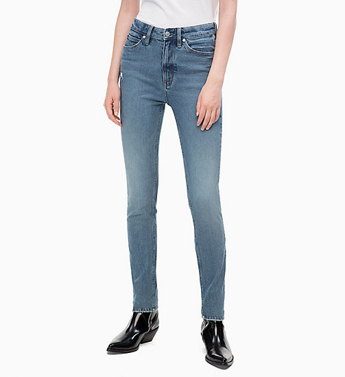 CALVIN KLEIN JEANS CKJ 010 High Rise Skinny Jeans - COBAR BLUE - CALVIN KLEIN JEANS NEW IN - main image