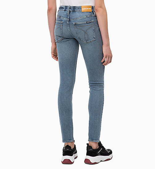 CALVIN KLEIN JEANS CKJ 011 Mid Rise Skinny Jeans - COBAR BLUE - CALVIN KLEIN JEANS NEW IN - detail image 1