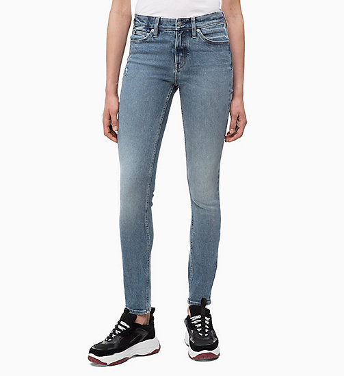 CALVIN KLEIN JEANS CKJ 011 Mid Rise Skinny Jeans - COBAR BLUE - CALVIN KLEIN JEANS NEW IN - main image