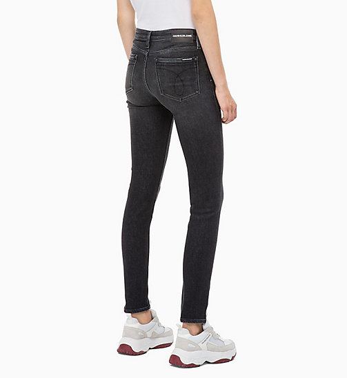 CALVIN KLEIN JEANS CKJ 011 Mid Rise Skinny Jeans - COWAL BLACK - CALVIN KLEIN JEANS IN THE THICK OF IT FOR HER - dettaglio immagine 1