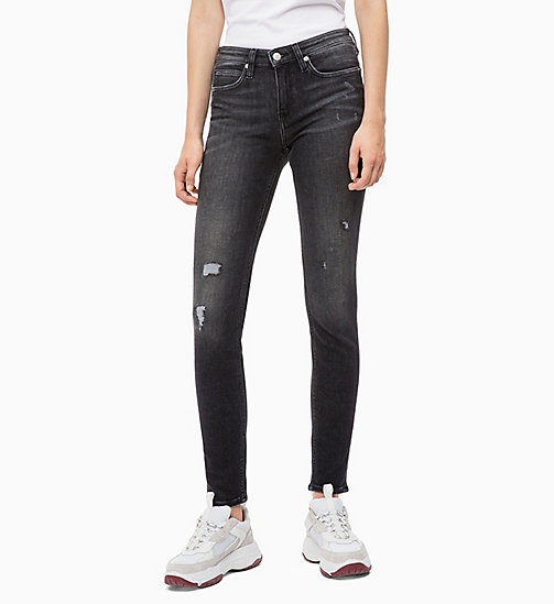 CALVIN KLEIN JEANS CKJ 011 Mid Rise Skinny Jeans - COWAL BLACK - CALVIN KLEIN JEANS IN THE THICK OF IT FOR HER - main image