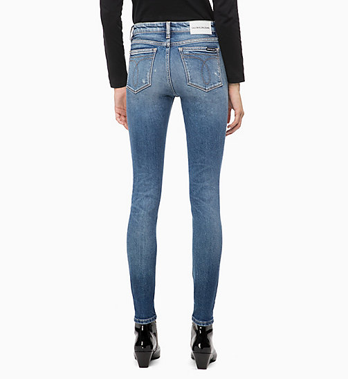 CALVIN KLEIN JEANS CKJ 011 Mid Rise Skinny Ankle Jeans - FORSTER BLUE - CALVIN KLEIN JEANS CLOTHES - detail image 1