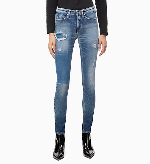 CALVIN KLEIN JEANS CKJ 011 Mid Rise Skinny Ankle Jeans - FORSTER BLUE - CALVIN KLEIN JEANS KLEIDUNG - main image