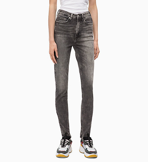 CALVIN KLEIN JEANS CKJ 010 High Rise Skinny Jeans - YUBA GREY - CALVIN KLEIN JEANS IN THE THICK OF IT FOR HER - main image