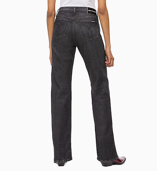CALVIN KLEIN JEANS CKJ 030 High Rise Straight Jeans - SALAMANCA BLACK - CALVIN KLEIN JEANS IN THE THICK OF IT FOR HER - dettaglio immagine 1