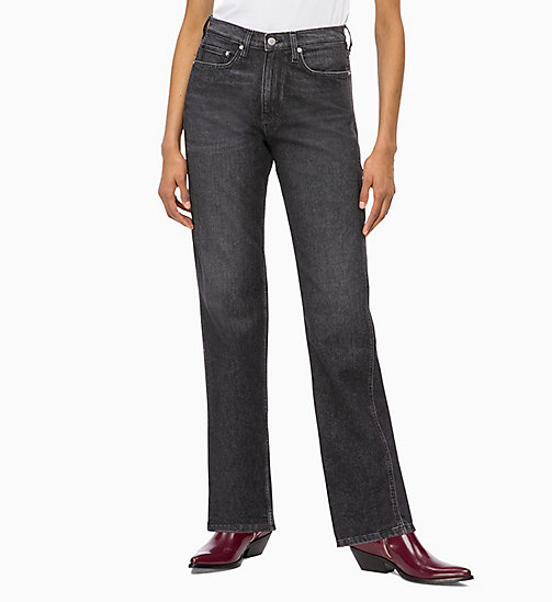 CALVIN KLEIN JEANS CKJ 030 High Rise Straight Jeans - SALAMANCA BLACK - CALVIN KLEIN JEANS IN THE THICK OF IT FOR HER - immagine principale