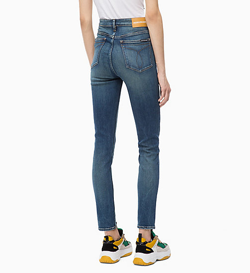CALVIN KLEIN JEANS CKJ 010 High Rise Skinny Jeans - SCONE BLUE - CALVIN KLEIN JEANS IN THE THICK OF IT FOR HER - detail image 1