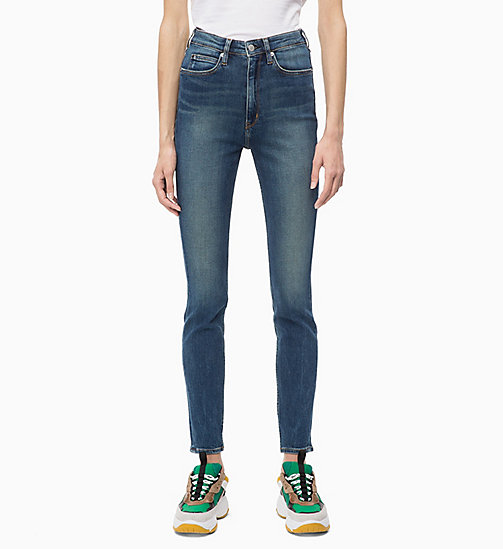CALVIN KLEIN JEANS CKJ 010 High Rise Skinny Jeans - SCONE BLUE -  IN THE THICK OF IT FOR HER - main image