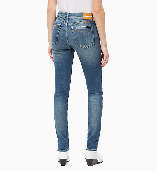 CALVIN KLEIN JEANS CKJ 011 Mid Rise Skinny Jeans - SCONE BLUE -  #MYCALVINS - detail image 1