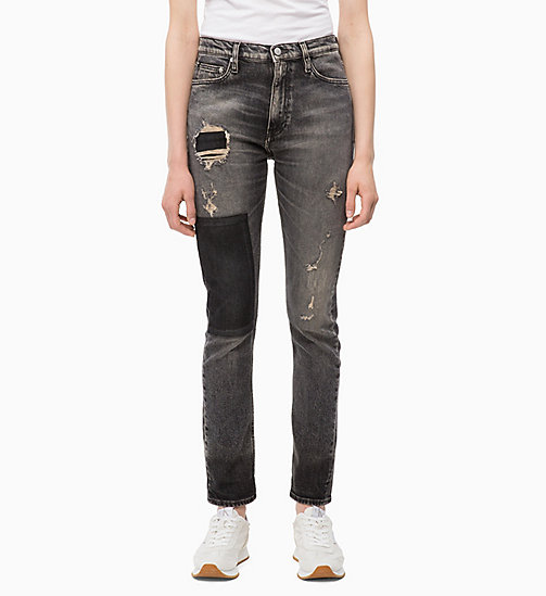 CALVIN KLEIN JEANS CKJ 020 High Rise Slim Jeans - MONLY BLACK -  SLIM JEANS - main image