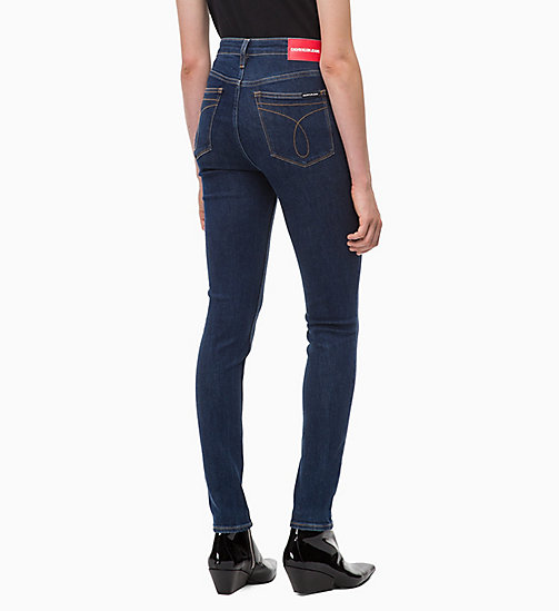 CALVIN KLEIN JEANS CKJ 010 High Rise Skinny Jeans - NORSEMAN BLUE - CALVIN KLEIN JEANS NEW ICONS - detail image 1