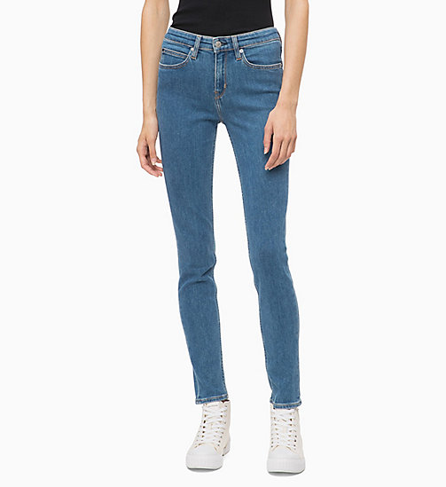 CALVIN KLEIN JEANS CKJ 011 Mid Rise Skinny Jeans - MARALINGA BLUE - CALVIN KLEIN JEANS CLOTHES - main image
