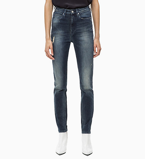 CALVIN KLEIN JEANS CKJ 010 High Rise Skinny Jeans - GAMBIER BLUE - CALVIN KLEIN JEANS NEW IN - main image