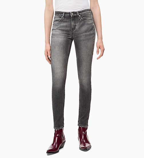 CALVIN KLEIN JEANS CKJ 011 Mid Rise Skinny Jeans - HUTT BLACK - CALVIN KLEIN JEANS KLEIDUNG - main image