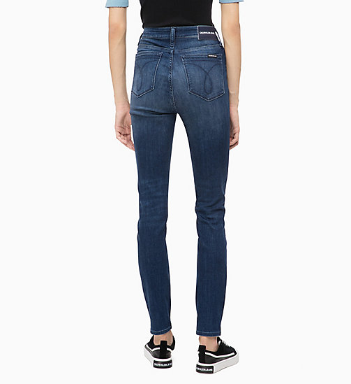 CALVIN KLEIN JEANS CKJ 010 High Rise Skinny Jeans - MASSON BLUE (DARK THERMOLITE) - CALVIN KLEIN JEANS ДЖИНСЫ SKINNY - подробное изображение 1