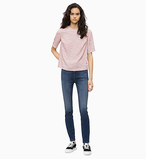 CALVIN KLEIN JEANS CKJ 010 High Rise Skinny Jeans - MASSON BLUE (DARK THERMOLITE) - CALVIN KLEIN JEANS CLOTHES - detail image 1