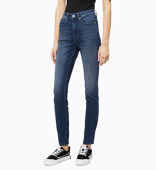 CALVIN KLEIN JEANS CKJ 010 High Rise Skinny Jeans - MASSON BLUE (DARK THERMOLITE) - CALVIN KLEIN JEANS ДЖИНСЫ SKINNY - главное изображение