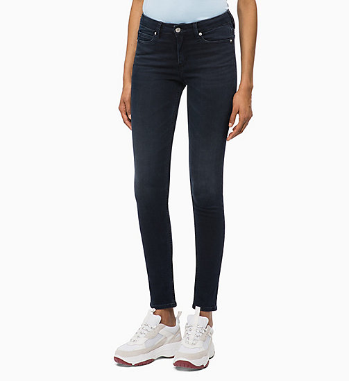 CALVIN KLEIN JEANS CKJ 001 Super Skinny Jeans - MILAN BLUE BLACK - CALVIN KLEIN JEANS NEW ICONS - main image