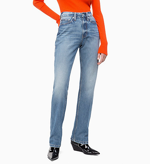 CALVIN KLEIN JEANS CKJ 030 High Rise Straight Jeans - BROOM BLUE - CALVIN KLEIN JEANS DENIM SHOP - image principale