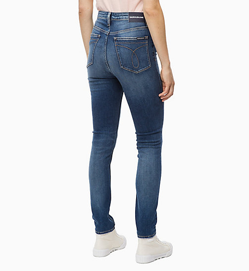 CALVIN KLEIN JEANS CKJ 010 High Rise Skinny Jeans - BORIS BLUE - CALVIN KLEIN JEANS NEW ICONS - detail image 1